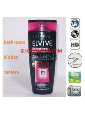 Shower Shampoo Bottle Camera Remote Control On/Off And Motion Detection Record built in memory 32GB