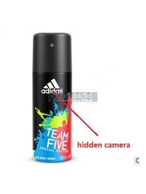 Adidas Men's Body Fragrance Spray Bottle Camera/HD Shower Spy Camera 16GB