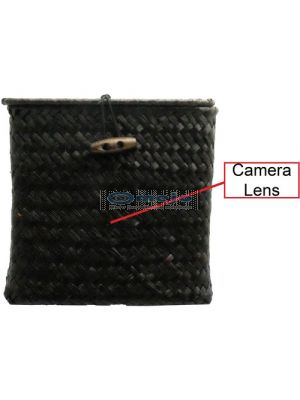 Wicker Tissue Box with 1080p Covert Camera Toilet Spy Camera DVR