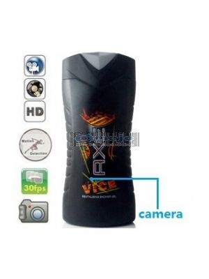 Axe Shampoo Bottle Camera Remote Control On/Off And Motion Detection Record 32GB