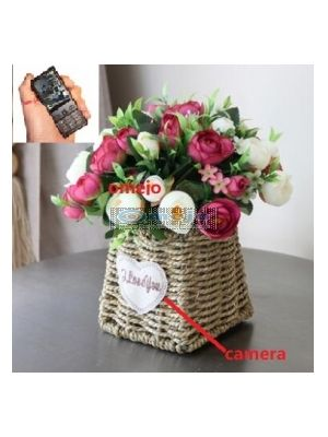 Simulation rose potted plant Hidden Camera Bathroom Spy Camera Wireless Spy Cell Phone DVR